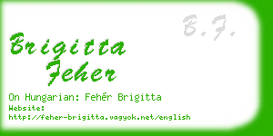 brigitta feher business card
